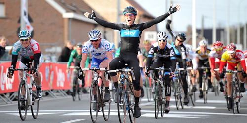 Christopher Sutton wint Kuurne-Brussel-Kuurne 2011