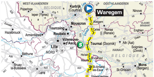 Tour de France 2007 vertrek Waregem