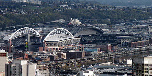 Seahawk Stadium en Safeco Field in Seattle