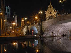 Gent by night.