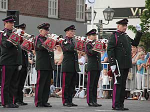 Internationale militaire taptoe Oudenaarde.